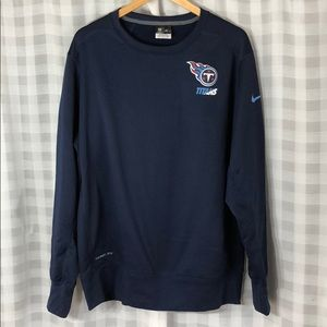 Nike On Field Tennessee Titans Pullover Creneck
